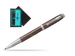Parker IM Premium Brown CT Rollerball Pen  single wooden box  Black Single Turquoise