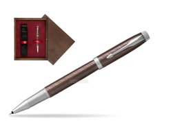 Parker IM Premium Brown CT Rollerball Pen  single wooden box  Wenge Single Maroon