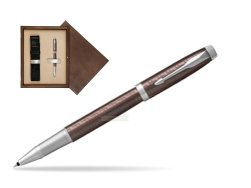 Parker IM Premium Brown CT Rollerball Pen  single wooden box  Wenge Single Ecru