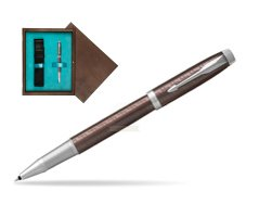 Parker IM Premium Brown CT Rollerball Pen  single wooden box  Wenge Single Turquoise