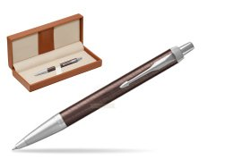 Parker IM Premium Brown CT Ballpoint Pen  in classic box brown
