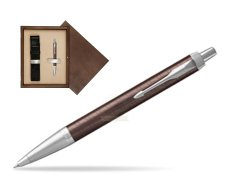 Parker IM Premium Brown CT Ballpoint Pen  single wooden box  Wenge Single Ecru
