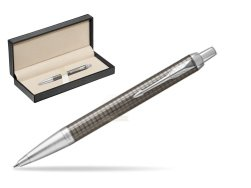 Parker IM Premium Dark Espresso Chiselled CT Ballpoint Pen  in classic box  pure black