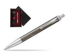 Parker IM Premium Dark Espresso Chiselled CT Ballpoint Pen  single wooden box  Black Single Maroon