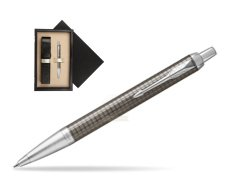 Parker IM Premium Dark Espresso Chiselled CT Ballpoint Pen  single wooden box  Wenge Single Ecru