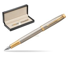 Parker IM Premium Warm Silver GT Fountain Pen  in classic box  black
