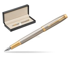 Parker IM Premium Warm Silver GT Fountain Pen  in classic box  pure black