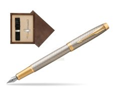 Parker IM Premium Warm Silver GT Fountain Pen  single wooden box  Wenge Single Ecru