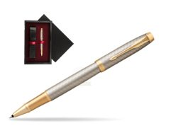 Parker IM Premium Warm Silver GT Rollerball Pen  single wooden box  Black Single Maroon