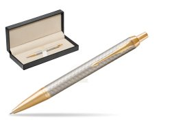 Parker IM Premium Warm Silver GT Ballpoint Pen  in classic box  pure black