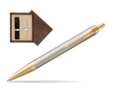 Parker IM Premium Warm Silver GT Ballpoint Pen  single wooden box  Wenge Single Ecru