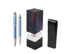 Parker IM Premium Blue CT T2016 Fountain Pen + Ballpoint Pen in a Gift Box  StandUP Crazy line