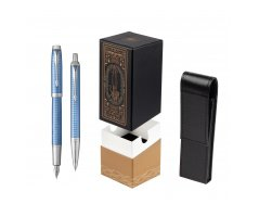Parker IM Premium Blue CT T2016 Fountain Pen + Ballpoint Pen in a Gift Box  StandUP For Men Only