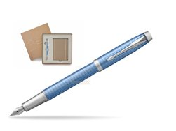Parker IM Premium Blue CT Fountain Pen T2016 in a Gift Box