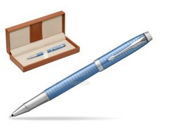 Parker IM Premium Blue CT Rollerball Pen  in classic box brown