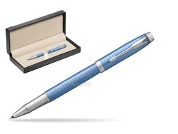 Parker IM Premium Blue CT Rollerball Pen  in classic box  black