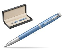 Parker IM Premium Blue CT Rollerball Pen  in classic box  pure black