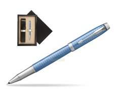Parker IM Premium Blue CT Rollerball Pen  single wooden box  Wenge Single Ecru