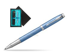 Parker IM Premium Blue CT Rollerball Pen  single wooden box  Black Single Turquoise
