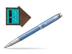 Parker IM Premium Blue CT Rollerball Pen  single wooden box  Wenge Single Turquoise