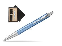 Parker IM Premium Blue CT Ballpoint Pen  single wooden box  Wenge Single Ecru