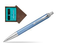 Parker IM Premium Blue CT Ballpoint Pen  single wooden box  Wenge Single Turquoise