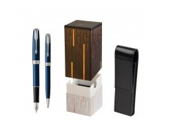 Parker Sonnet Blue CT Fountain Pen + Ballpoint Pen in a Gift Box  StandUP Matrix