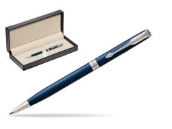 Parker Sonnet Subtle Blue Slim CT Ballpoint Pen  in classic box  black