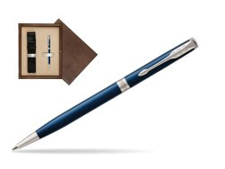 Parker Sonnet Subtle Blue Slim CT Ballpoint Pen  single wooden box  Wenge Single Ecru