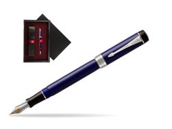 Parker Duofold Classic Blue & Black Centennial CT Fountain Pen  single wooden box  Black Single Maroon