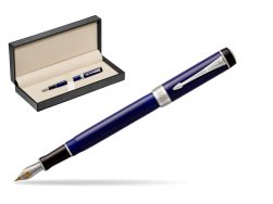 Parker Duofold Classic Blue & Black International CT Fountain Pen  in classic box  pure black