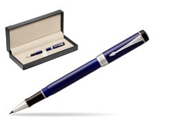 Parker Duofold Classic Blue & Black CT Rollerball Pen  in classic box  black