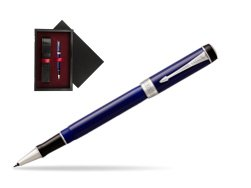 Parker Duofold Classic Blue & Black CT Rollerball Pen  single wooden box  Black Single Maroon