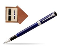 Parker Duofold Classic Blue & Black CT Rollerball Pen  single wooden box  Mahogany Single Ecru