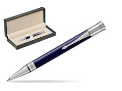 Parker Duofold Classic Blue & Black CT Ballpoint Pen  in classic box  pure black