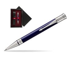 Parker Duofold Classic Blue & Black CT Ballpoint Pen  single wooden box  Black Single Maroon