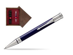 Parker Duofold Classic Blue & Black CT Ballpoint Pen  single wooden box  Wenge Single Maroon