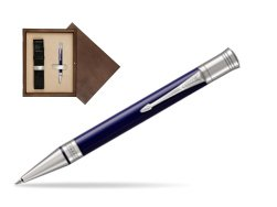 Parker Duofold Classic Blue & Black CT Ballpoint Pen  single wooden box  Wenge Single Ecru