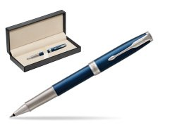 Parker Sonnet Premium Subtle Blue CT Rollerball Pen  in classic box  pure black