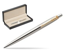 Parker Jotter Stainless Steel Golden Finish Trim Ballpoint Pen  in classic box  pure black