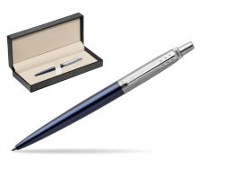 Parker Jotter Royal Blue Chrome Colour Trim Ballpoint Pen  in classic box  pure black