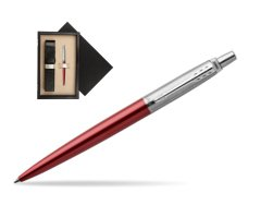 Parker Jotter Kensington Red Chrome Colour Trim Ballpoint Pen  single wooden box  Wenge Single Ecru