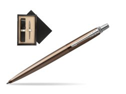 Parker Jotter Premium Carlisle Brown Pinstripe Chrome Colour Trim Ballpoint Pen  single wooden box  Wenge Single Ecru