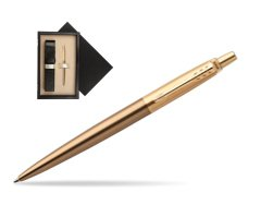 Parker Jotter Premium West End Brushed Golden Finish Trim Ballpoint Pen  single wooden box  Wenge Single Ecru