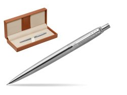 Parker Jotter Stainless Steel Chrome Colour Trim Mechanical Pencil  in classic box brown