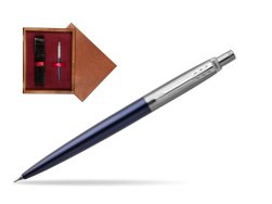 Jotter Royal Blue CT T2016 Mechanical Pencil  single wooden box Mahogany Single Maroon