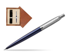 Jotter Royal Blue CT T2016 Mechanical Pencil  single wooden box  Mahogany Single Ecru