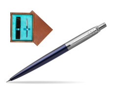 Jotter Royal Blue CT T2016 Mechanical Pencil  single wooden box  Mahogany Single Turquoise