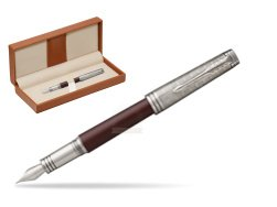 Parker Premier Crimson Red RT T2016 Fountain Pen  in classic box brown