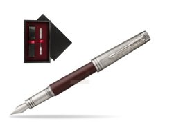Parker Premier Crimson Red RT T2016 Fountain Pen  single wooden box  Black Single Maroon
